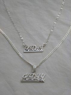 Cadena en plata personalizadas para el y para ella