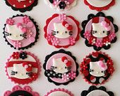 Paris,Oh La La cupcake toppers. $39.00, via Etsy.
