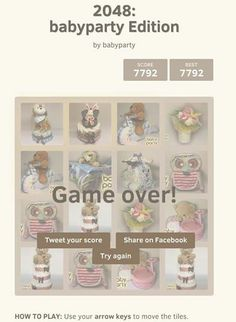 Baby party má aj svoju plienkovú hru - zahrajte sa s nami :) http://games.usvsth3m.com/2048/babyparty-edition-2/