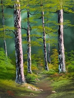 bob ross paintings for sale | silent forest 86135 painting by bob ross paintings for sale on ...: