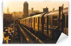 New York Subway Train. Subway Train in New York at Sunset , New York Subway, Nyc Subway, Guide New York, Metro Subway, Nyc With Kids, London Underground, Underground Cities, Personal Injury, Photo Wallpaper