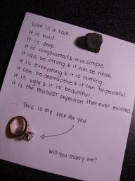 This would be really cute at the end of a scavenger hunt where you give her little presents every step. Wedding Proposals, Marriage Proposals, Wedding Quotes, Dear Future, Future Husband, Cute Relationships, Relationship Goals, Little Presents, Before Wedding