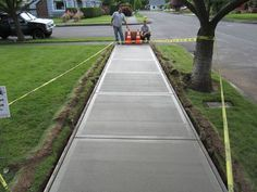 Pouring a #concretesidewalk is something that you can do fairly easily on your own with the proper steps. http://www.familyhandyman.com/masonry/pouring-concrete/how-to-pour-a-concrete-sidewalk/view-all