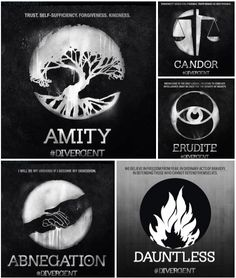 Divergent Movie Faction Symbols | Geeky | Pinterest