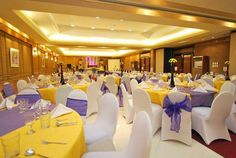 Pretty Yellow and Lavender wedding theme at City Garden Suites