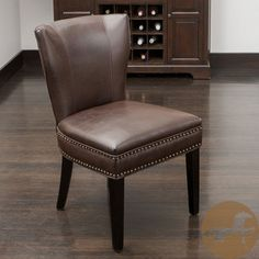 Taupe Faux Leather Parsons Chair Set of 2 More Parsons chairs ideas