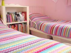 crochet twin blankets - colchas gemelas a crochet