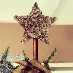 Christmas tree rosette star made from books. #harrypotter #lordoftherings #thedemonking #wickedbookcraft