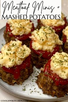 This certainly isn't the meatloaf recipe of my childhood. Meatloaf Minis with Mashed Potatoes is actually one of my most favorite meals. The cupcake meatloaf portions are full of spices, herbs, parmesan, onion, and Panko bread crumbs, topped with our most delicious made-from-scratch cheddar mashed potatoes, and between those layers is a tangy tomato-based ketchup. A simply scrumptious comfort food and the easiest meatloaf recipe! #bestmeatloaf #meatloafcupcakes #meatloafmuffins #easydinnerrecipe Meatloaf Recipe With Panko, Mini Meatloaf Recipes, Meat Loaf Recipe Easy, Best Meatloaf, Mashed Potato Recipes, Mashed Potatoes, Cupcake Meatloaf, Dinner On A Budget, Dinner Ideas