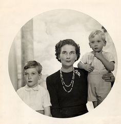 HRH The Duchess of Gloucester with her sons, Prince William (left) and Prince Richard.