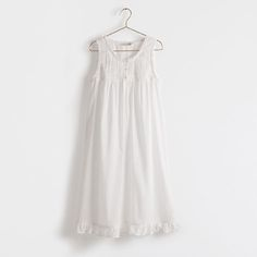 Embroidered Cotton Nightgown - Woman - Loungewear | Zara Home United States of America