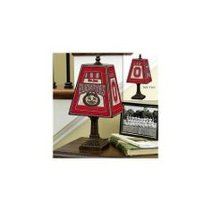 "NCAA Ohio State 14"" Art Glass Table Lamp"