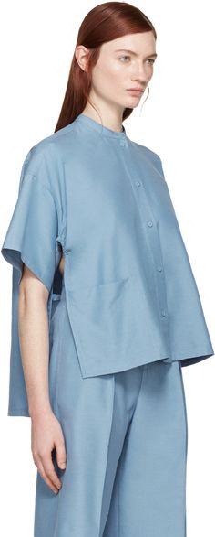 Ports 1961 - Blue Silk Vented Shirt