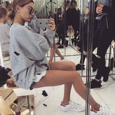 Hailey Baldwin strikes a pose.