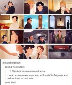 If Sherlock was an animated show. Love this!