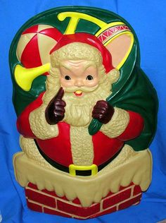 VTG GOODMAN CELLULOID XMAS SANTA LIGHT