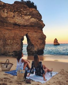 Watching the sunset with the whole beach to ourselves  by tuulavintage
