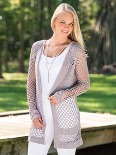 619d73ed6 Free Crochet Pattern - Gorgeous Cappuccino colored long ladies cardigan