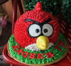 Kek Afrina 3D Angry Bird Cake cakepins.com