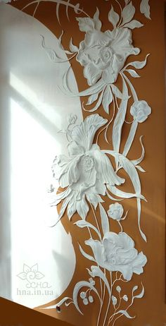 Natalia decorator, painting walls in Moscow, Reutov, Balashikha. Volume sculpture, bas-relief | Wall painting Balashikha | Works | Bulk-painted walls in Moscow