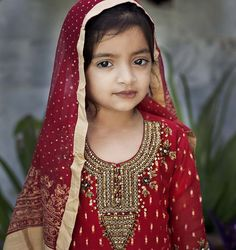 A Beautiful Young Girl in Eid Dress, Pakistan