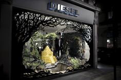 Diesel Black Gold windows    Design and Art direction for window and in-store displays for Diesel's Flagship London Store on New Bond Street. Photography: Lex Kembery.