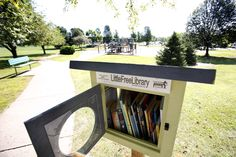 The Dundee Township Rotary Club donated a Little Free Library to West Dundee, and it was recently installed in Huffman Park.