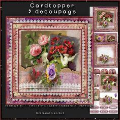 With Love Cardtopper with Inlet 145 on Craftsuprint - Add To Basket!
