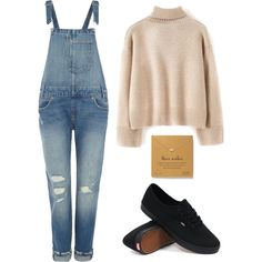 Three Wishes by marsophie on Polyvore featuring мода, WithChic, Levi's, Vans and Dogeared