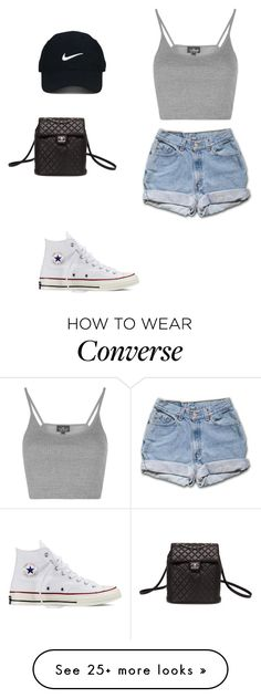 """""""Untitled #125"""" by gissellesilva on Polyvore featuring Topshop, Converse, Nike Golf and Chanel"""