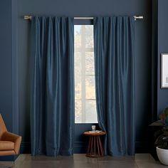 Greenwich Curtain + Blackout Liner - Blue Lagoon #westelm