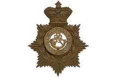 Badge. Oxfordshire Light Infantry Victorian OR's helmet plate centre circa 1881-1901. Die-stampe