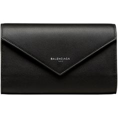 Balenciaga Papier Money Zip Around Papier Accessory ($585) ❤ liked on Polyvore featuring bags, wallets, clutches, purses, bolsas, black, flap wallet, long leather wallet, leather zipper wallet and long zipper wallet