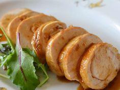 鶏むね肉のチャーシュー【作りおき】の画像 Yams, Meat Recipes, Baked Potato, Sausage, Lunch, Baking, Ethnic Recipes, Food, Beef Recipes