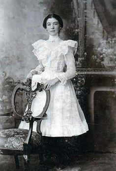 A young woman before age 18. At 18, they could drop their hemlines.
