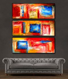 """'Color Splash ' - 36"""" X 36"""" Original Art . Free shipping within USA & 30 day return policy."""