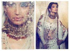 Indian Desi South Asian bride bridal fashion couture.