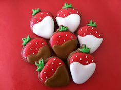 Strawberry cookies idea