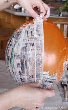 Step by step instructions for a paper mache globe with the for How do you make paper mache glue at home