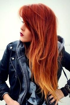 ombre bakır karamel saç