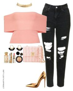 """""""Untitled #248"""" by stylebyharpreet on Polyvore featuring Topshop, T By Alexander Wang, Christian Louboutin, Chanel, Rebecca Minkoff, Charlotte Russe, Yves Saint Laurent and Tory Burch"""