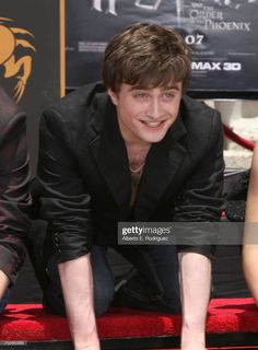 Actor Daniel Radcliffe attends the Harry Potter cast
