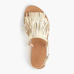 Fringe slingback sandals : shoes | J.Crew