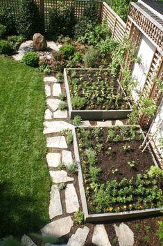 Small garden design ideas are not simple to find. The small garden design is unique from other garden designs. Vertical Vegetable Gardens, Backyard Vegetable Gardens, Small Backyard Gardens, Backyard Garden Design, Vegetable Garden Design, Diy Garden, Small Gardens, Backyard Landscaping, Backyard Ideas