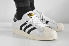 adidas Superstar 80s (White, Black & Chalk)