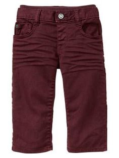 Knit-waist colored straight jeans | Gap