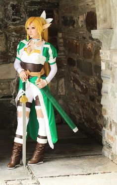 Leafa from Sword Art Online Cosplayed by Mirakan Photographed by ? Source: worldcosplay.net