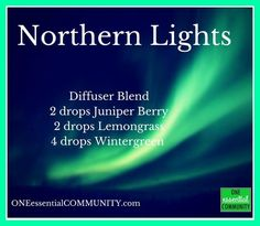 love the clean, bright smell of this Northern Lights diffuser blend!