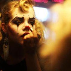 Hayley Jane - Getting her makeup on