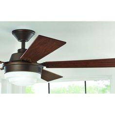 Home Decorators Collection Emswell 52 in. Mediterranean Bronze Indoor LED Ceiling Fan-51611 - The Home Depot
